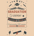 graduation party ceremony on paper background vector image