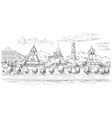 hand drawing moscow-5 vector image vector image