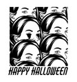 happy halloween hand drawn of girl with bleeding vector image
