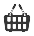 icon basket buy market shop isolated vector image vector image