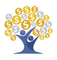 icon for money tree vector image