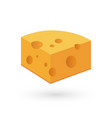 icon of cheese on white in vector image vector image