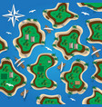 islands map vector image vector image