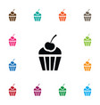isolated sweet icon cupcake element can be vector image vector image
