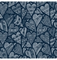 Jeans background with flowers Denim vector image vector image