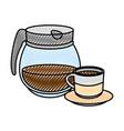 kettle kitchenware utensil vector image vector image