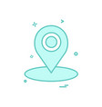 map location gps icon design vector image
