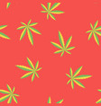marijuana flag colour red seamless pattern vector image