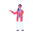 media broadcasting crew reporter or show man flat vector image vector image