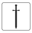 Medieval sword sign isolated vector image vector image