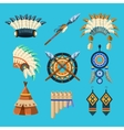 Native American Indian Culture Set vector image vector image