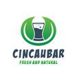 natural leaf beverage logo vector image
