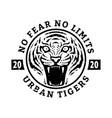 no fears limits tiger t-shirt design vector image