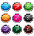 oh speech bubble set 9 collection vector image vector image