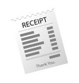 paper checks receipts receipt icon vector image