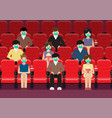 people in movie theater lifestyle after pandemic vector image