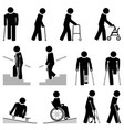 people use different types mobility aids vector image