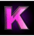 pink plastic figure k vector image
