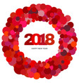 red circles and the inscription happy new year vector image