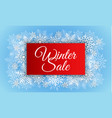 red winter sale concept background realistic vector image vector image