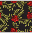 seamless pattern with leaves and fruits of vector image