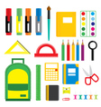Set of school supplies vector image