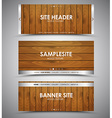 set of wooden web banners vector image vector image
