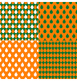 Set Orange Green Water Drops Background vector image