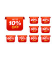 set sale tags bookmark discount stickers pack vector image vector image