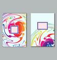 set template sample poster design flyer business vector image