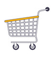 shopping cart icon in color sections silhouette vector image vector image