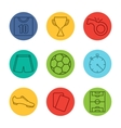 Soccer equipment icons vector image vector image