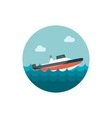 Speed boat icon Summer Vacation vector image