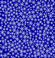 Texture of snowflakes vector image vector image