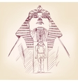 Tutankhamun Egyptian Pharaoh llustration vector image