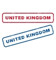 United Kingdom Rubber Stamps vector image vector image