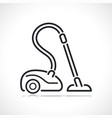 vacuum cleaner thin line icon vector image vector image