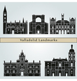 Valladolid landmarks and monuments vector image vector image