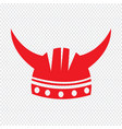 viking helmet icon sign design vector image