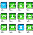 web balloon icons vector image