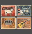 welcome to spain travel wine and music culture vector image vector image