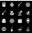 white honey icon set vector image
