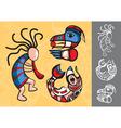set of stylish american indian symbols vector image