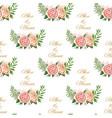 vintage wedding pattern vector image