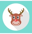 Reindeer Christmas Icon vector image