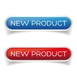 New product button set vector image