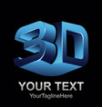 abstract 3d text shape icon logo 3d shape vector image