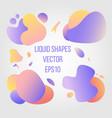 abstract liquid shapes vector image