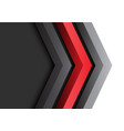 abstract red black grey arrow 3d direction vector image vector image