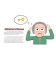 alzheimers disease in old woman vector image vector image